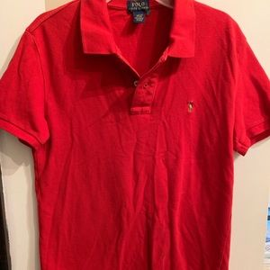 Boys red Polo Ralph Lauren shirt